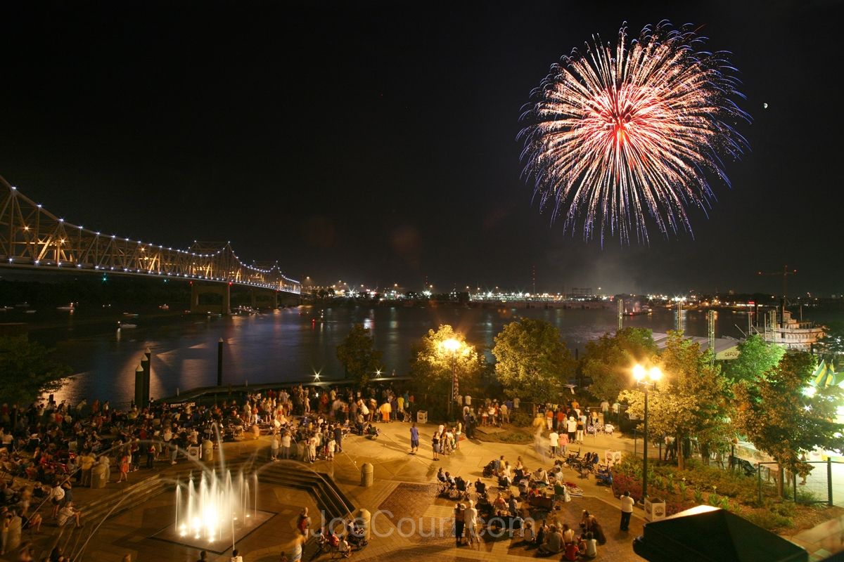 Fireworks at the riverfront